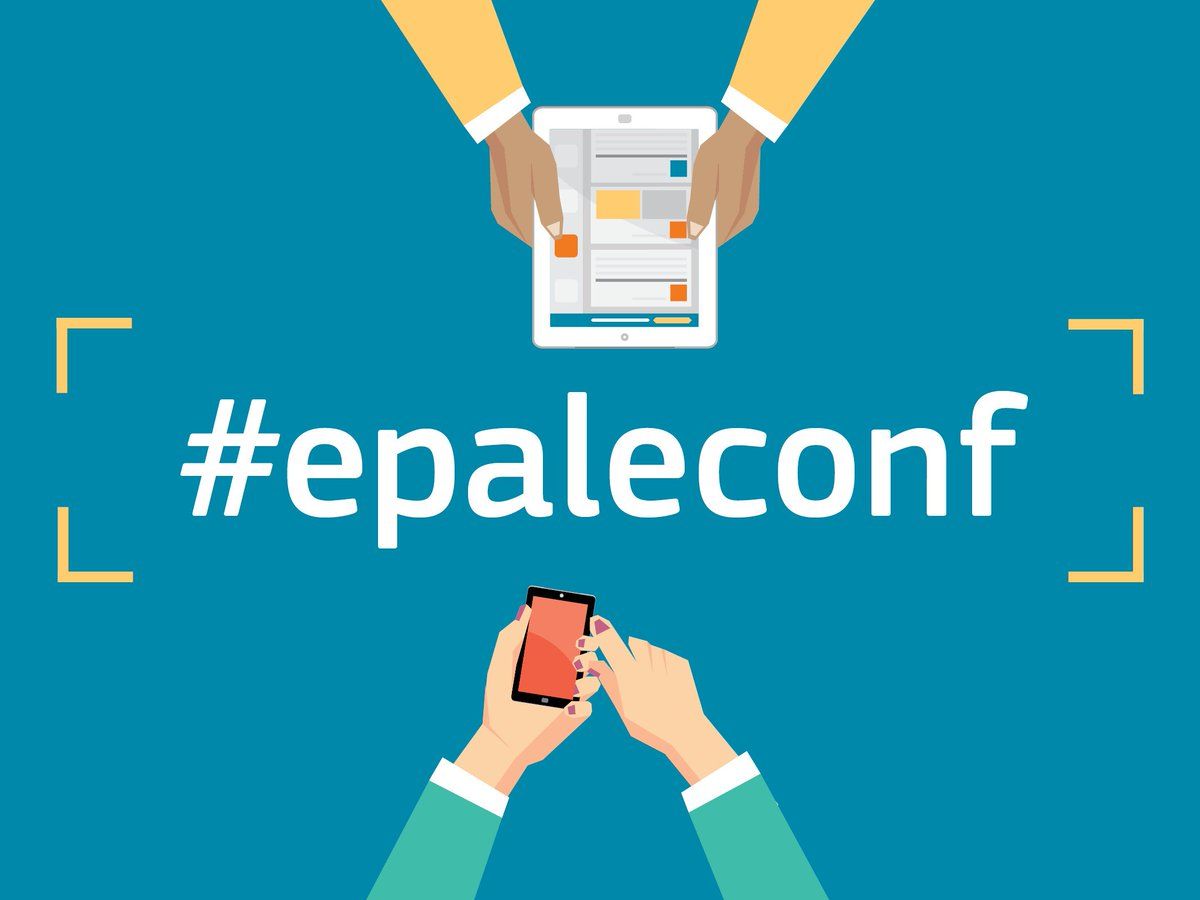 Almost time for #epaleconf we're excited. Don't forget we're also on Periscope EPALE_UK https://t.co/vNNWcrxeSF