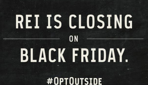 Sorry shoppers, REI wants you to #OptOut of Black Friday—their doors will be closed https://t.co/2xrFeQ7SlR