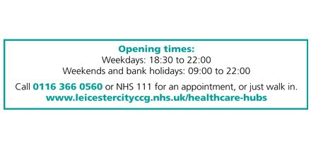 You can now get evening & weekend GP appointments at Leicester City's new Healthcare Hubs  https://t.co/iWmQpq2Vl9 https://t.co/z8gF5zQ1K7
