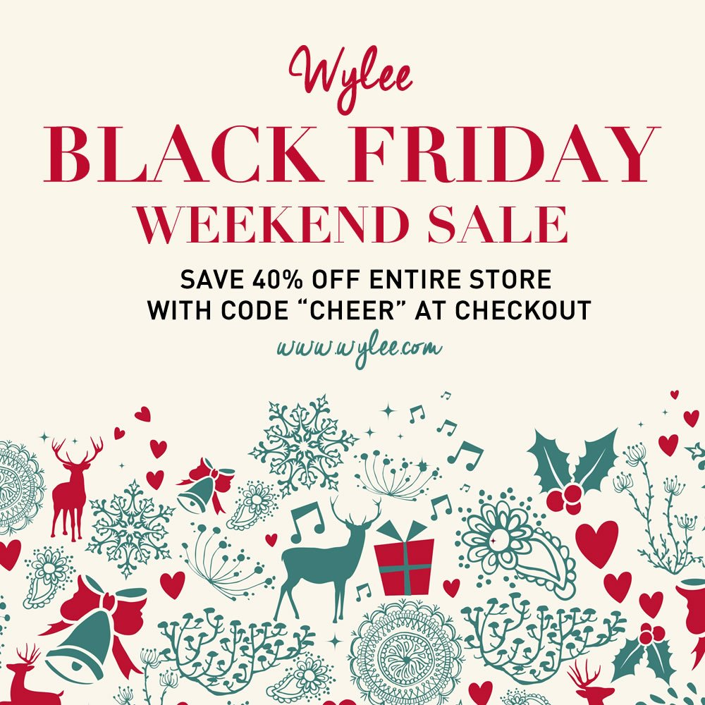 ".@wyleebyll #BlackFriday is ON! Save 40% off the ENTIRE store with promo code ""CHEER""! https://t.co/HQpcAqps4L https://t.co/rD4MlXGzYT"
