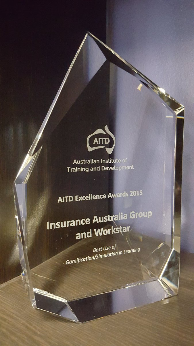 Best Use of Gamification/Simulation in Learning #AITDawards winner @IAGAust @Workstar_eLearn. Congratulations https://t.co/kpmZKgMYhd