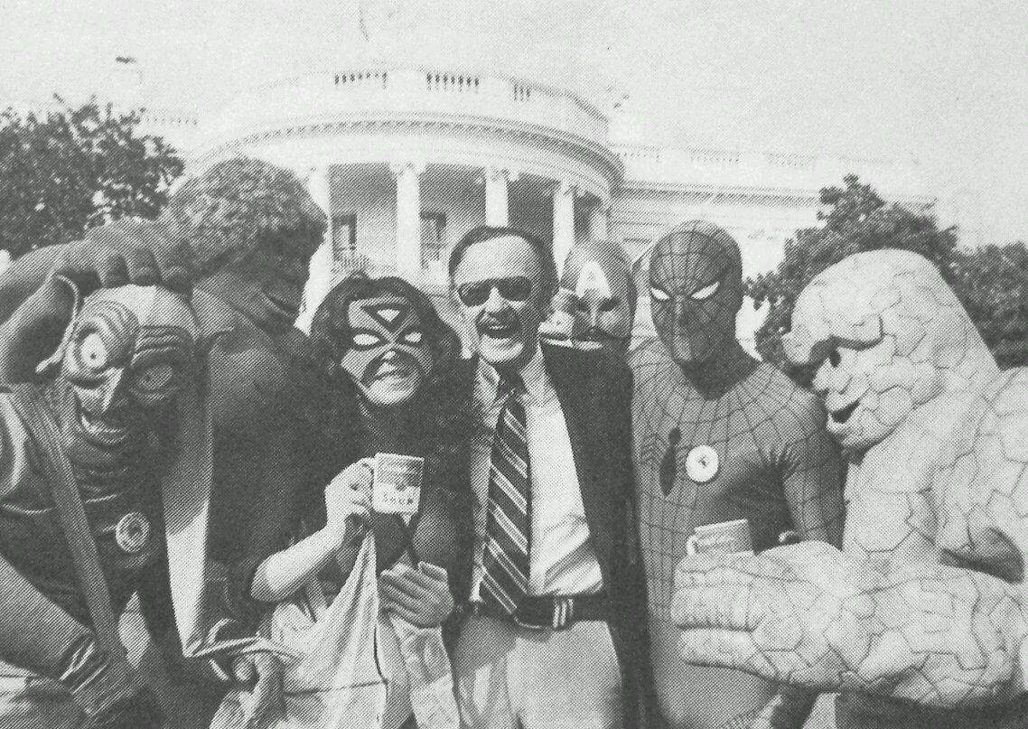 Znalezione obrazy dla zapytania stan lee white house