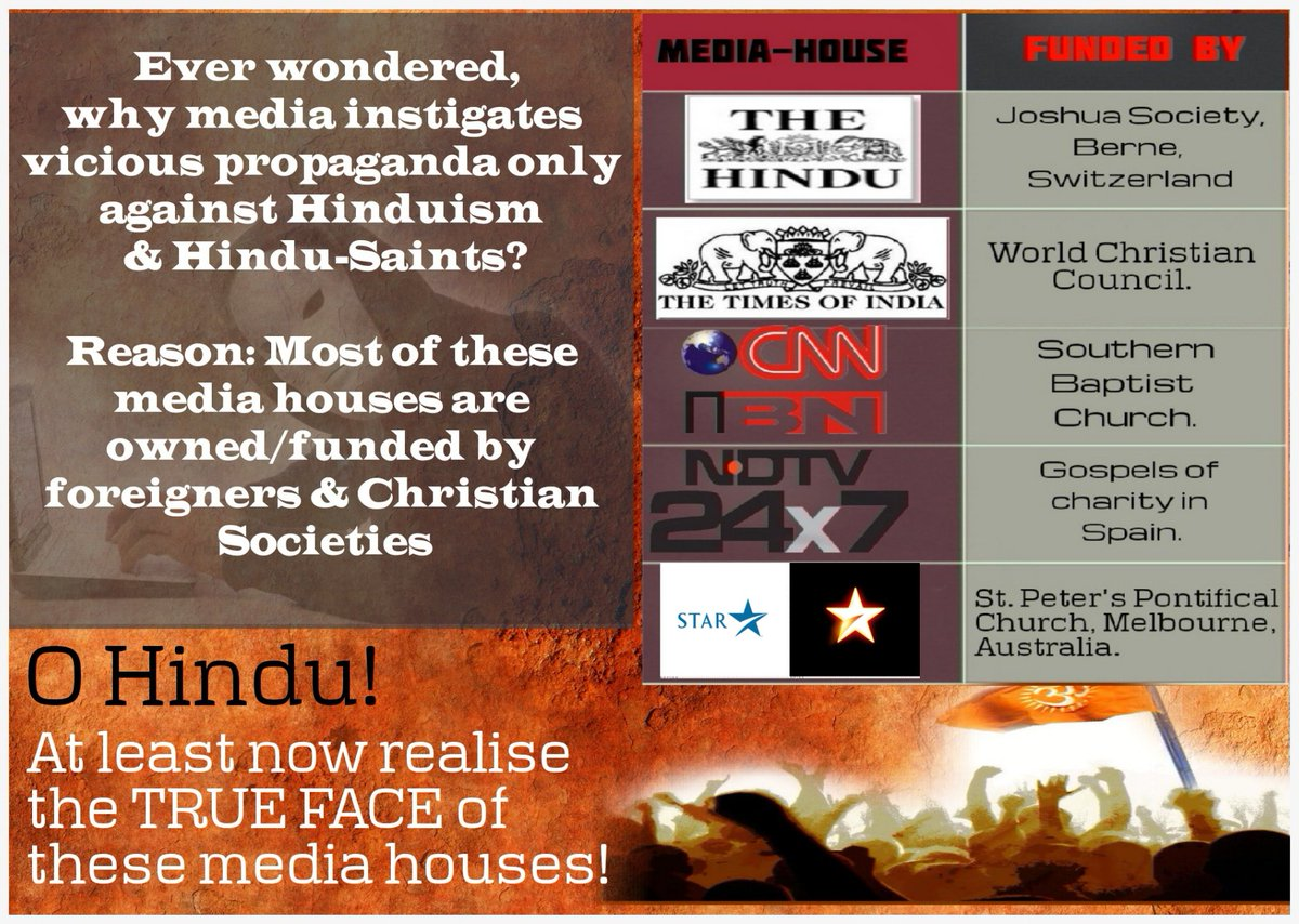 Who r funding Media? Why PaidMedia shows back to back Fake Shows on Innocent Hindu Saints? #SICKularConversions <br>http://pic.twitter.com/OA6TAVkZQl
