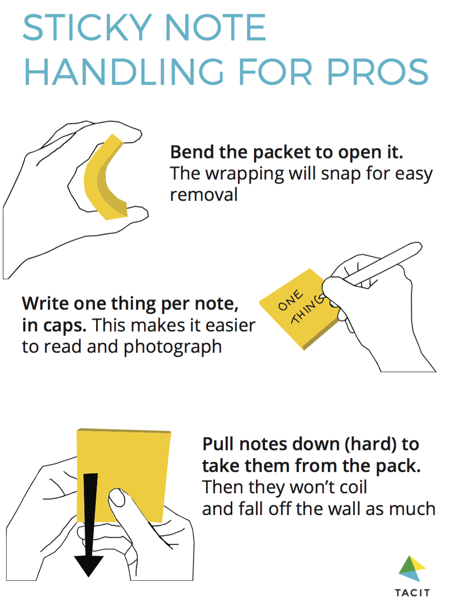 Sticky note handling for pros #agile https://t.co/6MS2dlY935
