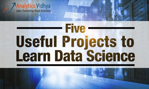 5 projects to learn Data Science
