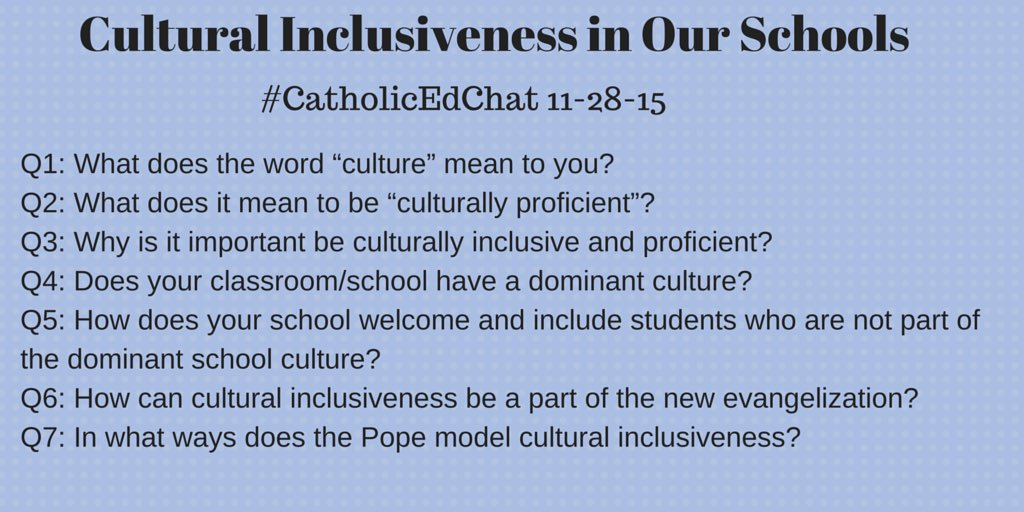 Today's #CatholicEdChat questions https://t.co/EPOF86p6Nz
