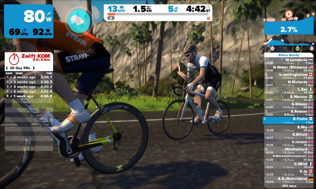 Zwift users: Should I wave? - Bike Forums