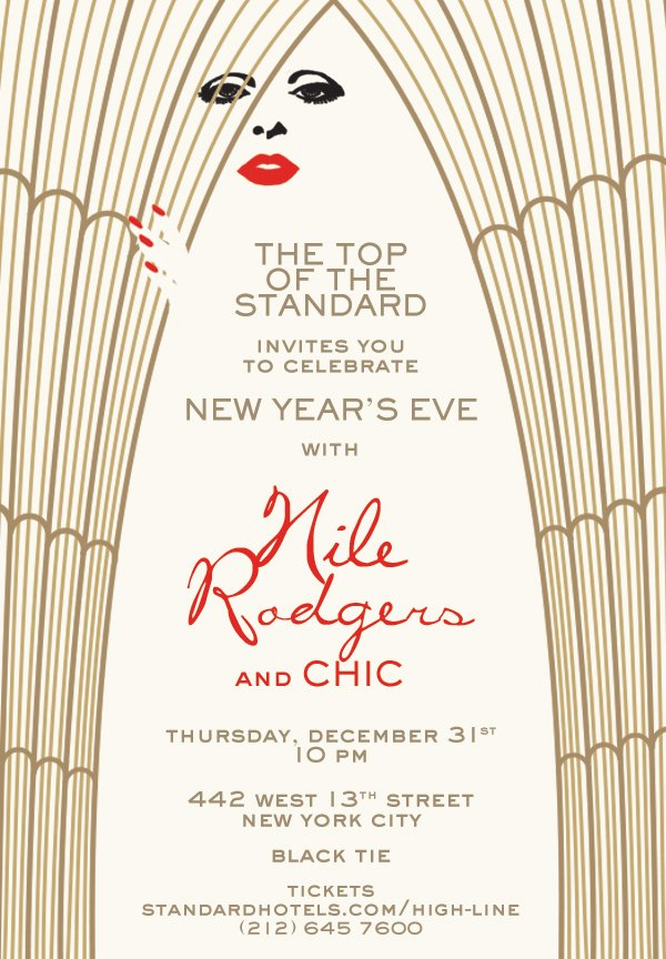 If you nothing to do for #NYE, why not hang out with Nile Rodgers & Chic On Top of The @StandardNY?  I'll be there! https://t.co/B3b3XUZVkv