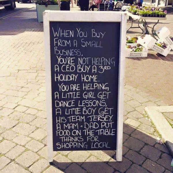 WHEN YOU BUY FROM A SMALL #BUSINESS YOU&#39;RE HELPING FAMILIES &amp; COMMUNITIES#smallbusiness #SmallBiz#entrepreneur RT<br>http://pic.twitter.com/fxfnSlNN47