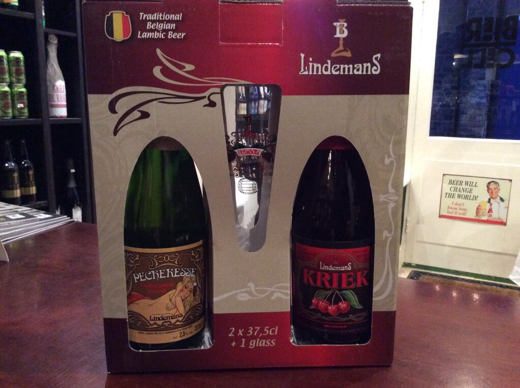 Lindemans and Timmermans fruit beer gift set @BierCell Altrinchampic.twitter.com/OzaC4asMYe
