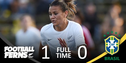 FULLTIME l The #FootballFerns take down Brazil 1-0 in Sao Paulo! Amber Hearn's 35th minute strike the winner! https://t.co/V3HOSUAPZw