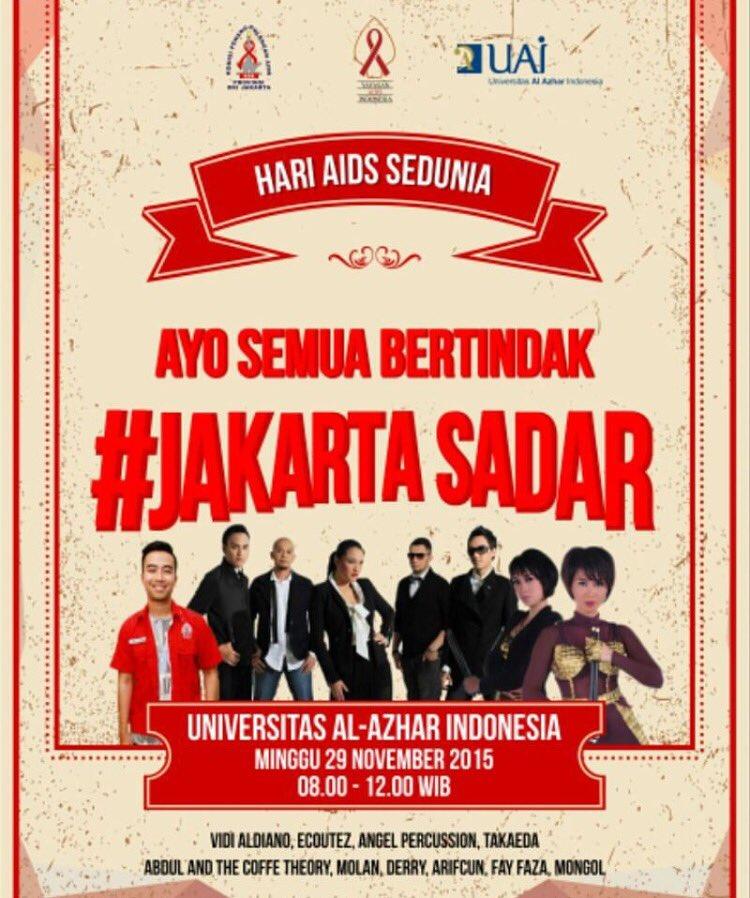 Yuk dateng ke acara #JakartaSadar di @UAlazhar brg gw, @vidialdiano dan @abdullikecoffee !