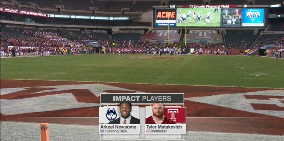 """Doesn't happen often, but fun when both """"impact players"""" are #cthsfb alums. https://t.co/G7akllQ6fk"""