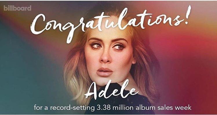 Doing the most.. Congratulations @Adele 👏🏾❤️🎉💿💎🇬🇧 https://t.co/ZKyONI1VZk