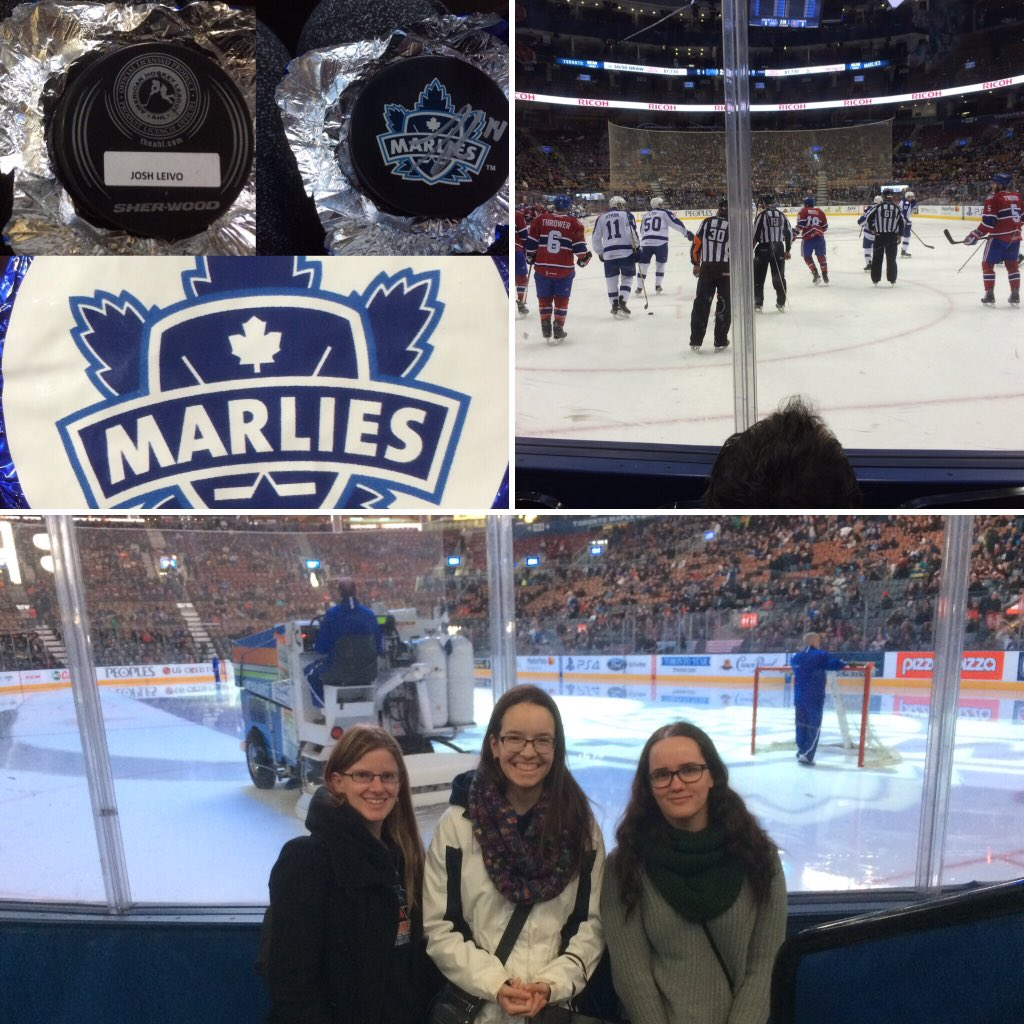 Had fun at the @TorontoMarlies game today with my girls! Was happy to get a #mysterypuck that is signed by @jleivo17<br>http://pic.twitter.com/LswO9D6nbf