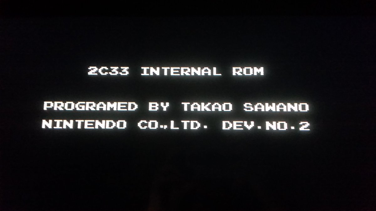 Thanks to TCRF I learnt there's a secret developers credit on the Famicom Disk System BIOS https://t.co/Hy6x2NneYF