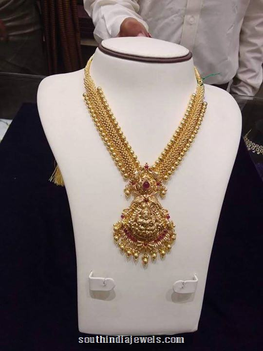 gold south pin model jewels india necklace grams