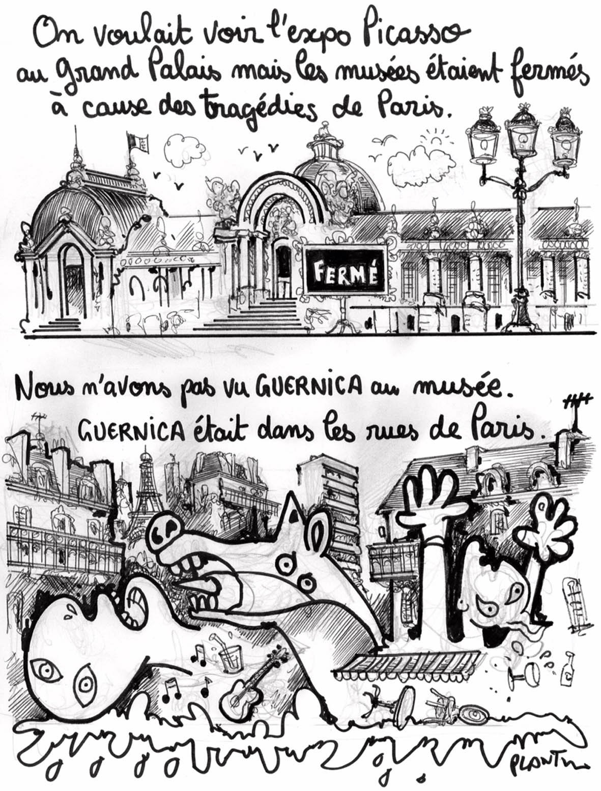 "PLANTU on Twitter: ""GUERNICA. Le dessin de L'Express ..."