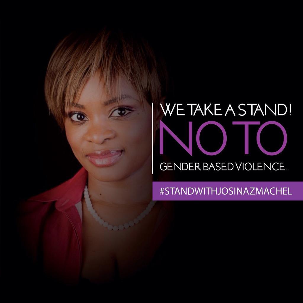Say NO to gender based violence!! #standwithJosinaZMachel @JosinaZM https://t.co/3hqJXQA07n