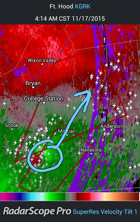 (417) TORNADO WARNING til 500 for Brazos & Grimes co. Includes the city of College Station & @TAMU #TXwx #BCSwx https://t.co/dqzdZMIkEX
