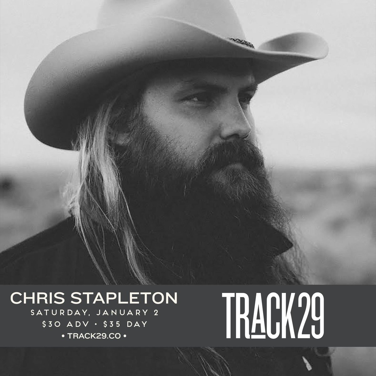 Just announced! @ChrisStapleton is coming to  Jan 2nd 18+ $30/$35 ON SALE Nov 20th 10am https://t.co/WoczrME0OW #cha https://t.co/VKEu6G09Yk