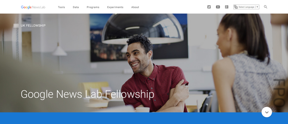 Studying Data Journalism? Got plans for summer 2016? Apply for a @GoogleNewsLab Fellowship: https://t.co/elZa01Bpcp https://t.co/H2iBMMWaek