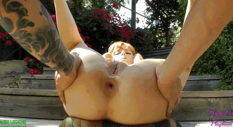 Creampie in the backyard