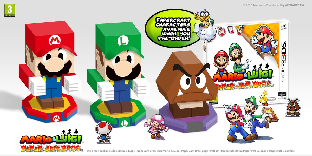 Game Co Uk On Twitter Pre Order Marioluigi Paper Jam On 3ds And