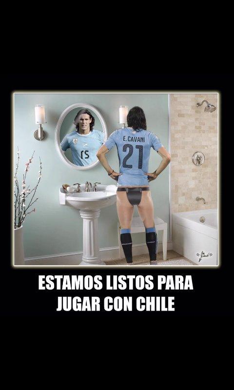 #VamosChileCTM Los Uruguayos están listos, nosotros también :) #FelizMartes https://t.co/9igvZJbIar