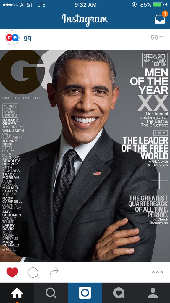 Our president @POTUS is on the cover of GQ. This is amazing! https://t.co/K0shAhMMDx