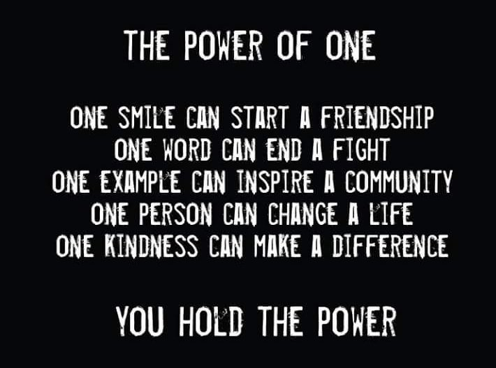 carlos gerard on the power of one it only takes one  carlos gerard on the power of one it only takes one smile word example person and one kindness to make a difference felizmartes