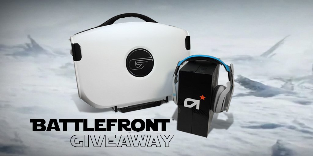 #StarWarsBattlefront is here! Follow & RT for a chance to WIN this one & only white #Vanguard & @ASTROGaming A40! https://t.co/FxvarJZKU1