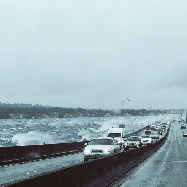 @KING5Seattle treacherous conditions on 520 westbound! #strongwinds https://t.co/9dVLbyeUs7