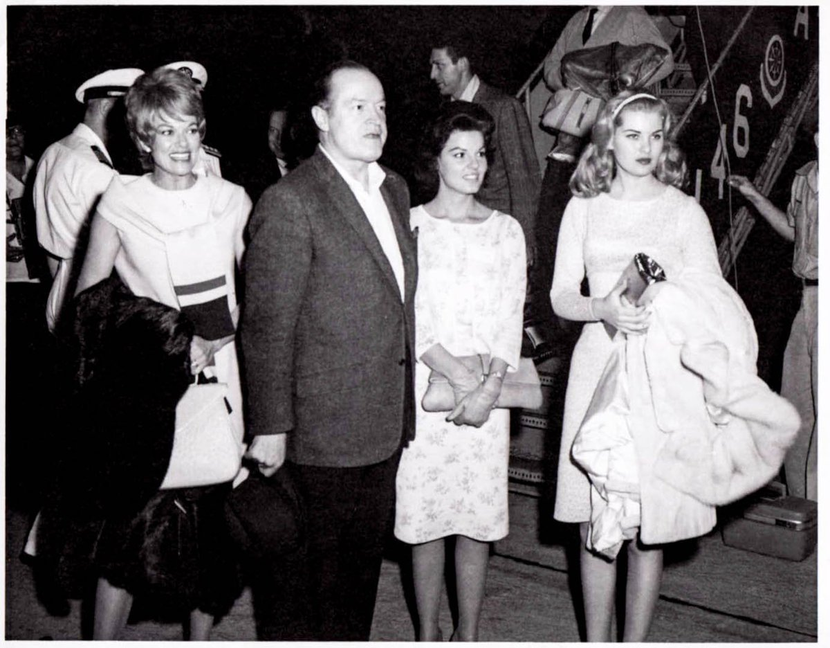 """Amadee Chabot farrell b. mcfarland on twitter: """"bob hope with janis page"""