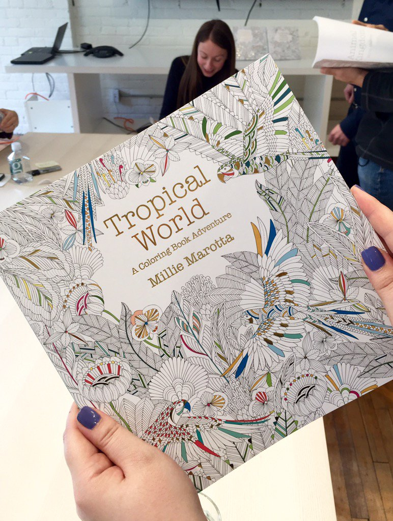 Indigo Chapters On Twitter MillieMarrota Stopped By Our Home Office Today Do You Love Her Adult Colouring Books As Much We
