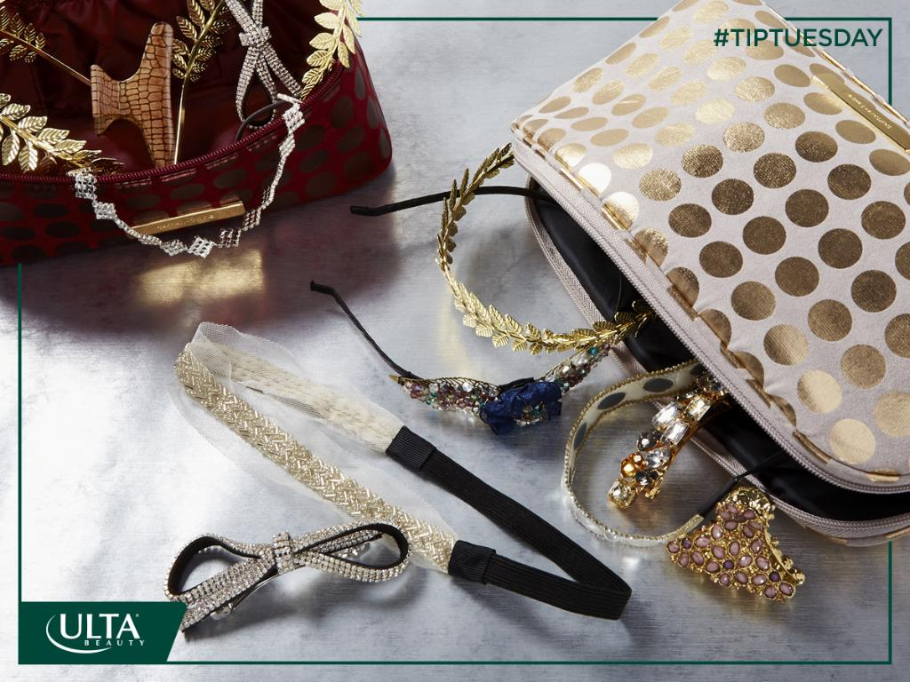 Ulta Beauty On Twitter Tiptuesday Add Shimmery Hair Accessories To Your Travel Bag For A Quick Fix Https T Co Yahkppvf5z