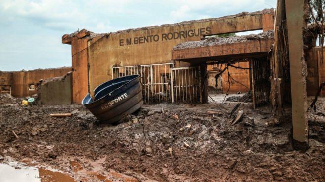 Quello che resta di Bento Rodrigues in Brasile.