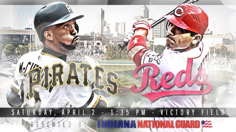 BIG NEWS: @Pirates vs @Reds at Victory Field on Saturday, April 2. Tickets here: https://t.co/IS55HytqAk https://t.co/cxpvEH1aTJ