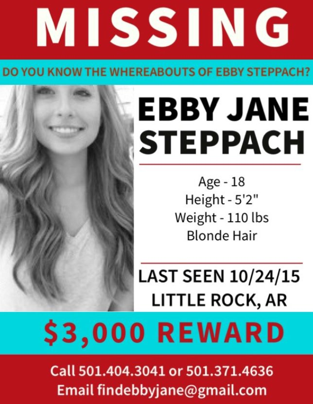 Ebby Jane Steppach, 18, Missing Since October 24, 2015 - Little Rock, AR CUD5kCUXIAAOcF1