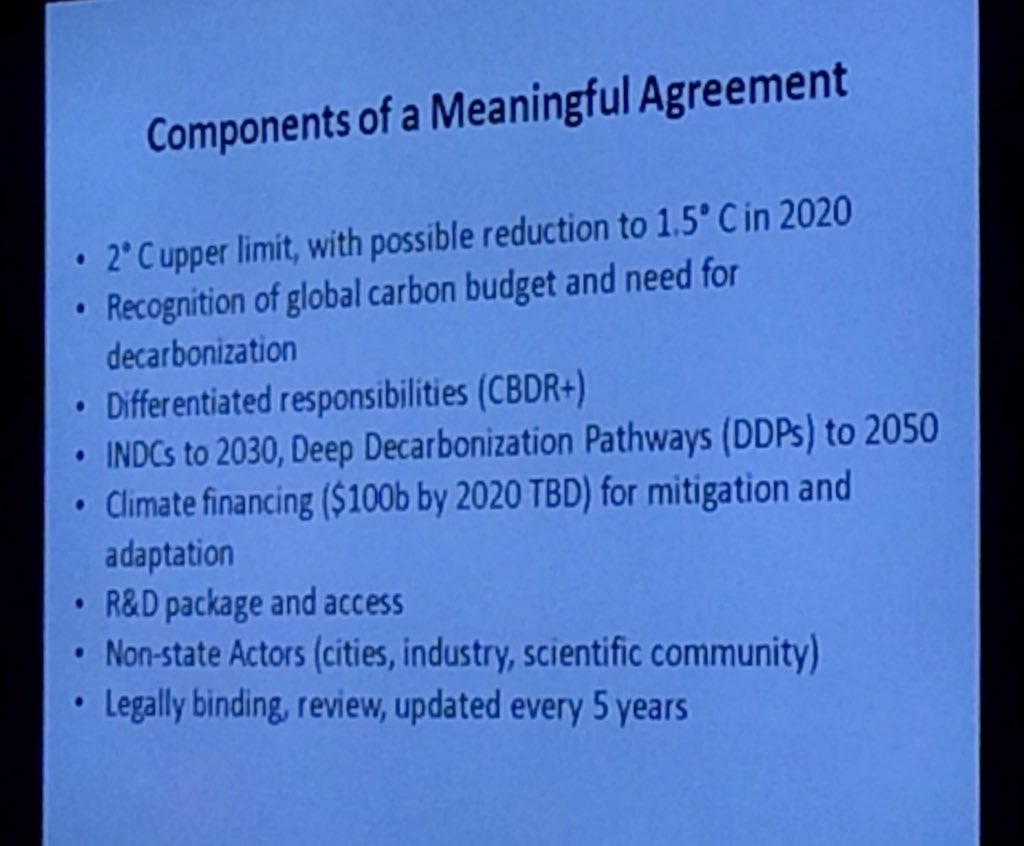 @JeffDSachs's Components of a Meaningful Agreement in Paris #ExchangeNYC https://t.co/0Ww6xktYjn