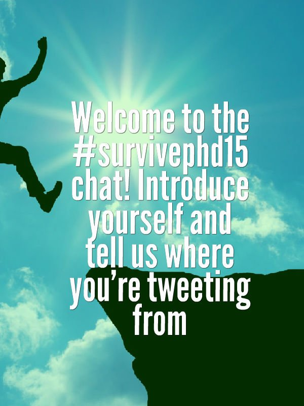 Thumbnail for Our 1st #survivephd15 chat-building confidence