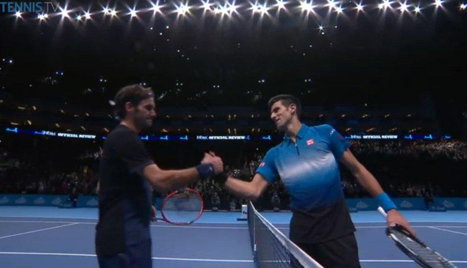 R・フェデラー勝利、王者N・ジョコビッチの連勝記録23をストップ!(ATPワールド・ツアーファイナルズ 2015)