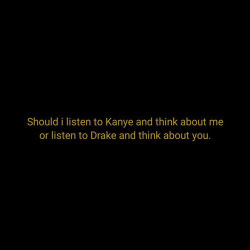 """Sara Stark On Twitter: """"Kanye : Attitude Drake : Feelings"""