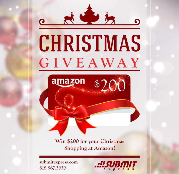 Giveaway! #SubmitExpress offers $200 gift card for Christmas Shopping on Amazon! https://t.co/60JnTtJpJk https://t.co/B8osHZOaH1