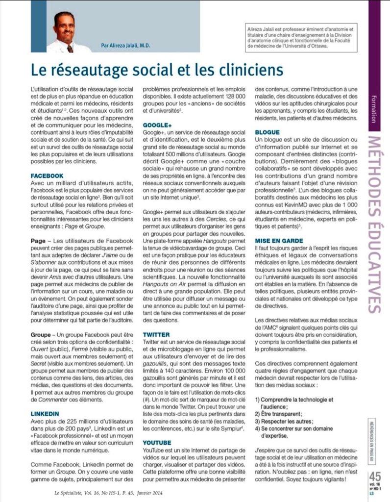 Le Réseautage Social et les Cliniciens Via @FMSQ #cpass_ms #UdeMChir #hcsmca  https://t.co/9jNC3sorWJ https://t.co/Cv5XkZppvO