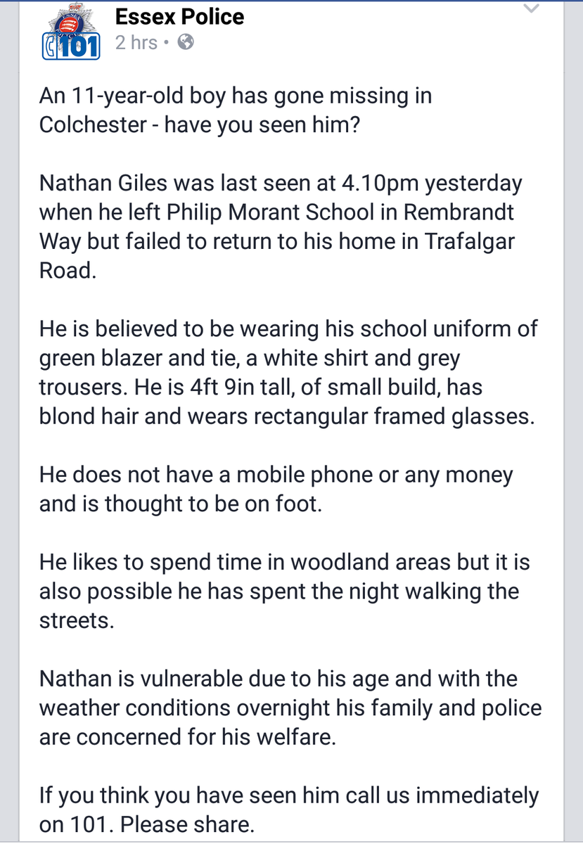 Urgent. Anyone help #Colchester please could you take a look. RT https://t.co/MyXattUP0O
