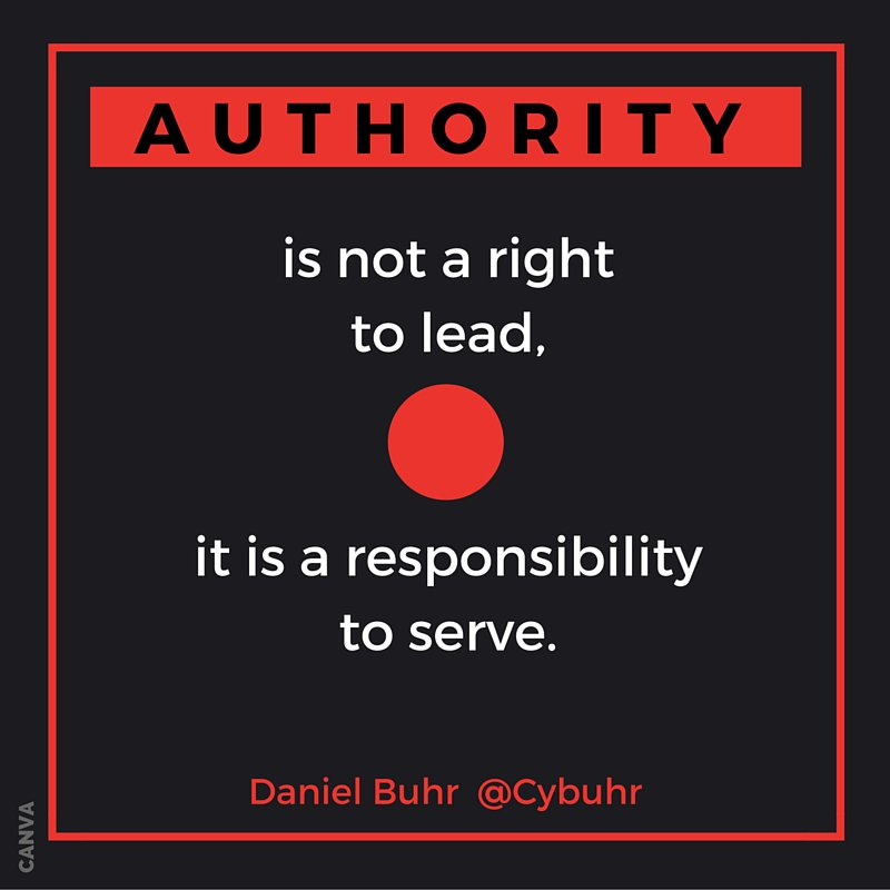 Authority is not a right to lead, it is a responsibility to serve. #ServantLeadership https://t.co/owjKjHOTkW