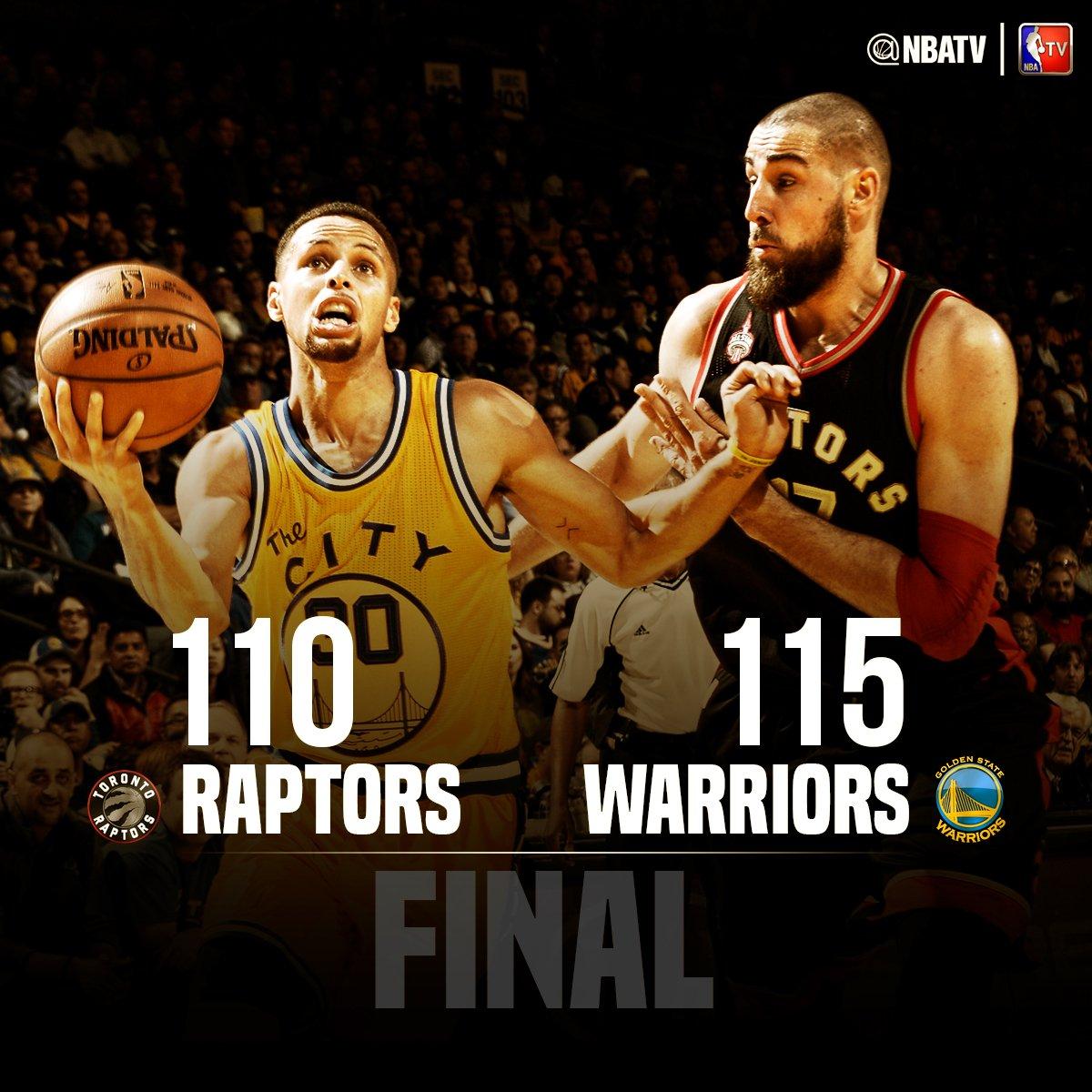 Warriors 115-110 Raptors (Warriors 12-0 Yaptı)
