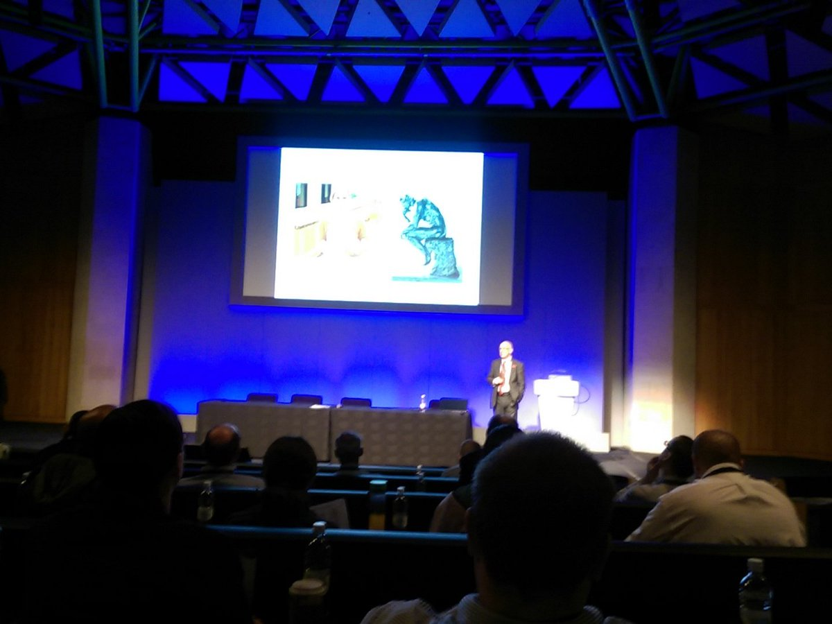 The thinking robot #incoseuk #asec2015 day 2 kick off keynote https://t.co/0ufxUtRi0v