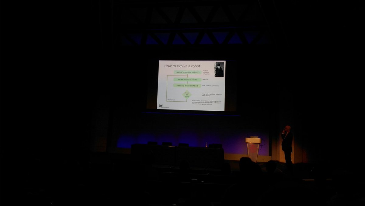 Genetic algorithms to evolve a robot #asec2015 #incoseuk https://t.co/ITX8CBK1iI